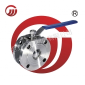 Stainless steel clip - on ball valve